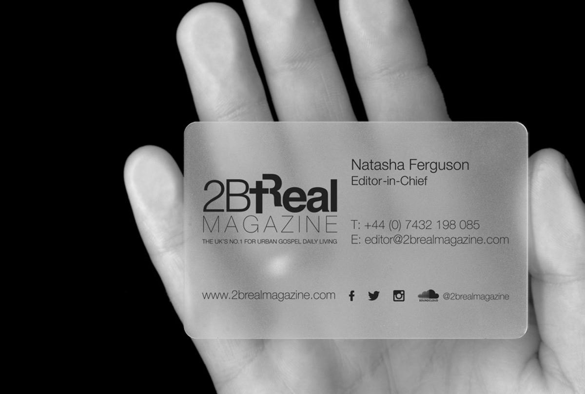 Business Card Design: 2BReal Magazine   Graphic Design   Digital ...